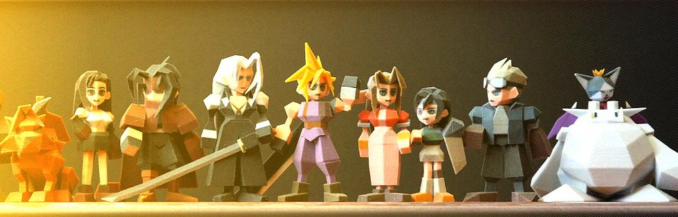 News: Final Fantasy VII: Figuren aus dem 3D-Drucker